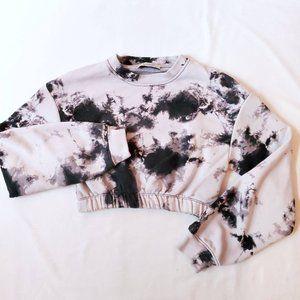 Pull&Bear Tie-Dye Cropped Sweatshirt